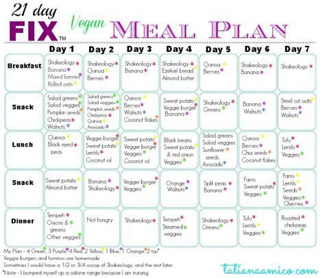 21 day diet menu