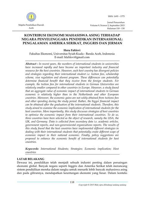 (PDF) KONTRIBUSI EKONOMI MAHASISWA ASING TERHADAP NEGARA