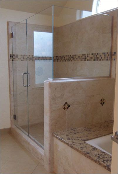 glass shower door  pony wall google search