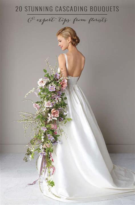 Cascading Wedding Bouquets On Pinterest Silk Wedding