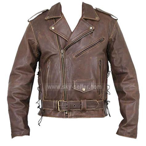 motorcycle style leather jacket arnold terminator style motorcycle brown leather jacket