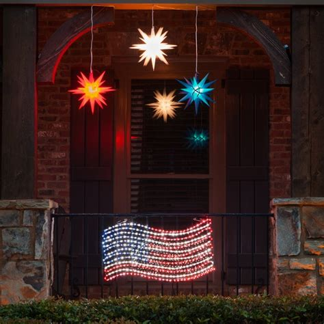 outdoor decoration led rope light patriotic flag