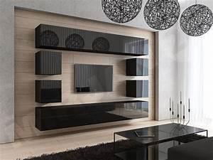 Wohnwand Schwarz Holz : wohnwand concept 17 design hochglanz schwarz dachmax dachfenster shop velux fakro roto ~ Markanthonyermac.com Haus und Dekorationen