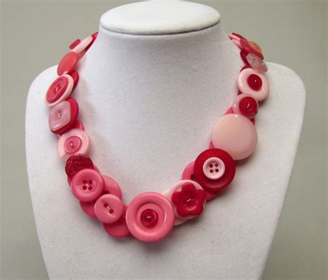 Jewelry Making Button Necklace