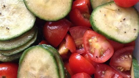 Cooking School Summer Tomatoes by Cool Summer Cucumber And Tomato Toss Recipe Allrecipes