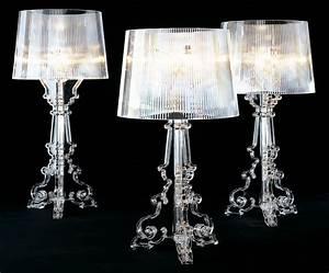 Luminaire Kartell : lampe de table bourgie h 68 78 cm cristal kartell ~ Voncanada.com Idées de Décoration