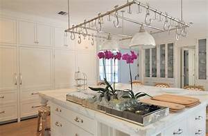 Square Kitchen Island - Transitional - kitchen - Cote de Texas