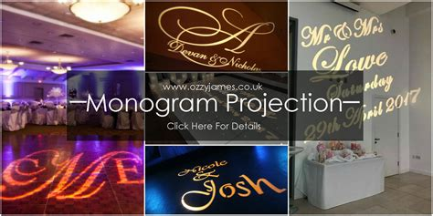 wedding  projection wedding monogram ozzy james parties event