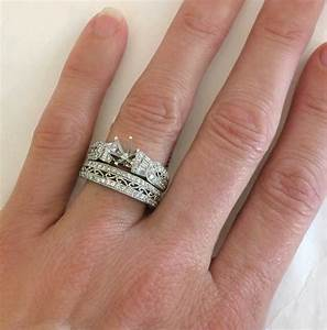 how do wedding bands work wedding bands design ideas With how does the engagement ring and wedding band work