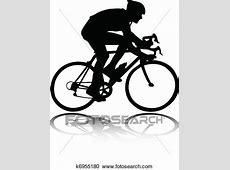 Clipart radfahrer, silhouette k6955180 Suche Clip Art