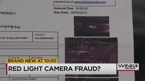 red light ticket cost red light ticket fraud or mistake naples couple wants answers