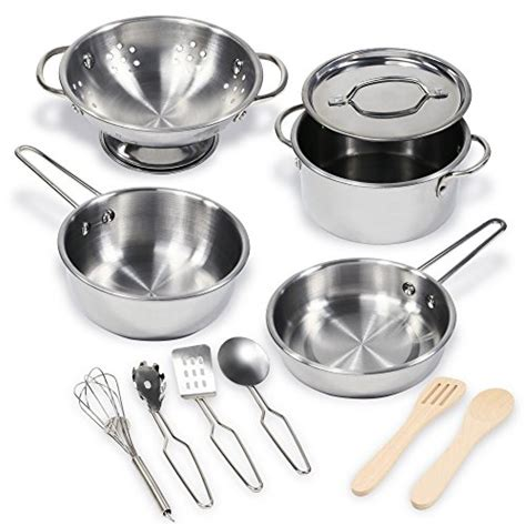 kidkraft metal kitchen cookware and accessories compare price cookware for kitchen on 9031