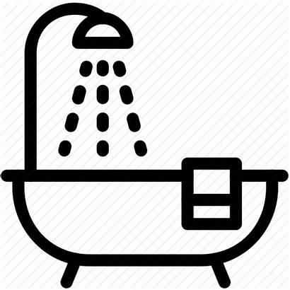 Shower Icon Bathtub Bath Bathroom Svg Clipart