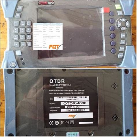 instructions  otdr buttons  display panel ftth