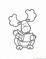 Moose Coloring Pages Muffin Funny Cartoon Cute Christmas Baby Thidwick Head Hearted Drawing Moosie Colouring Give Template Operation Child Nate sketch template