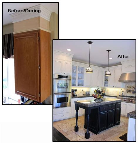 designs for kitchens pictures adding crown to your kitchen cabinets and other trim 6676