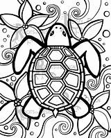 Coloring Pages Easy Adult Simple Colouring Turtle Zentangle Abstract sketch template