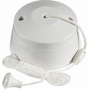 Knightsbridge 6 Amp One Way Bathroom Ceiling Light Pull