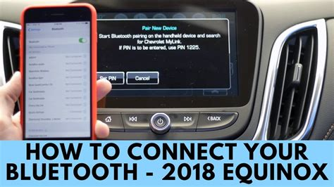 2018 chevrolet equinox how to connect bluetooth youtube