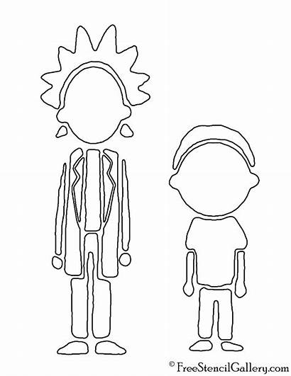 Morty Rick Stencil Coloring Pages Pumpkin Carving