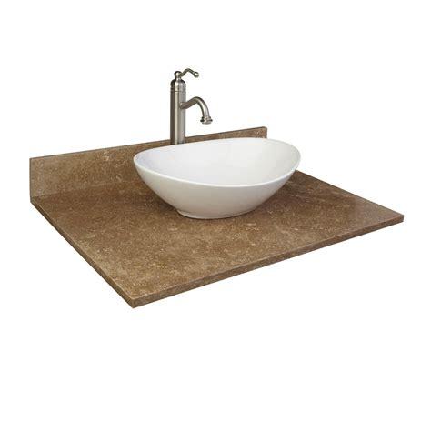 vanity with top and sink 31 quot x 22 quot travertine vessel sink vanity top bathroom