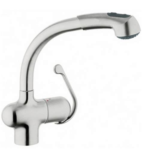grohe ladylux kitchen faucet grohe 33759sd0 ladylux plus pull out kitchen faucet stainless steel faucetdepot com