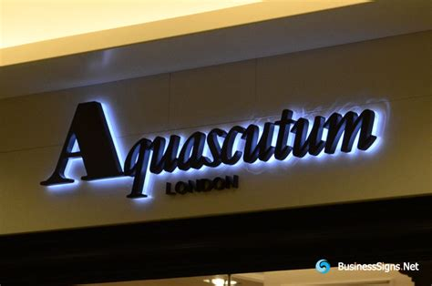 3d led backlit signs with painted stainless steel letter shell 10mm thickness acrylic back
