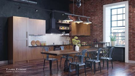 Rich Industrial Style Unites Colours With Exposed Brick Walls by Rich Industrial Style Unites Colours With Exposed