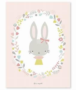 affiche bebe enfant lapin fille With chambre bébé design avec envoyer des fleurs en espagne