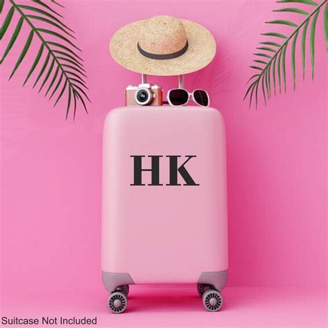 personalised suitcase initials  sticker decal luggage etsy  stickers wall stickers