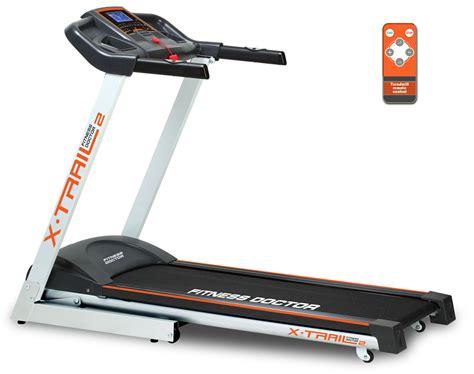 tapis de course fitness doctor x trail 2 noir blanc