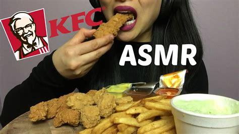 asmr kfc boneless chicken combo eating sounds sas asmr