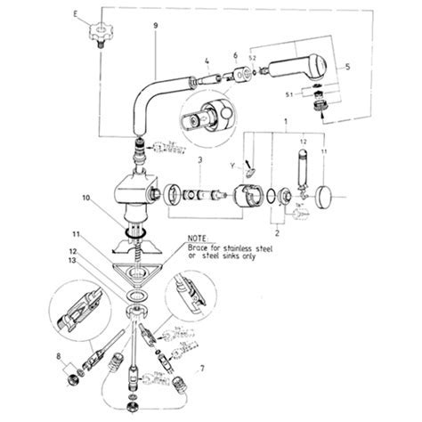 Grohe Ladylux 33 790 Pull Out Spray Kitchen Faucet Parts