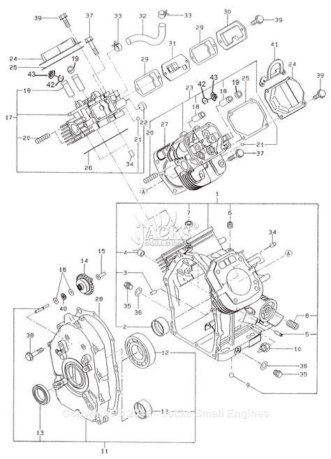 robin subaru eh65 parts diagram for crankcase type