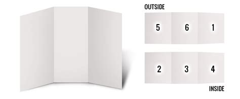 Brochure Template For Pages by 6 Page Brochures Foster Printing