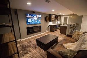 warrantied basement remodeling by certified contractors in With 4 basement flooring ideas to create comfortable basement