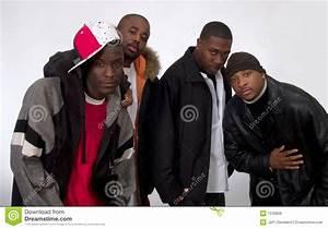 Vier Zwarte Mensen Stock Foto  Afbeelding Bestaande Uit Groep