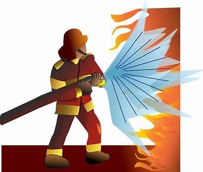 Pemadam Gambar Profesi Firefighter Kartun Kebakaran Clipart
