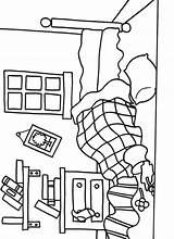 Coloring Bathroom Bed Hospital Sheet Getdrawings sketch template