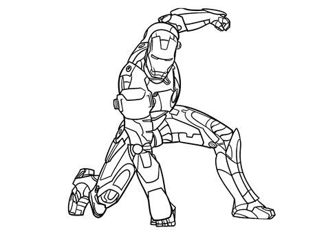 Iron Man Coloring Pages Coloringsuitecom