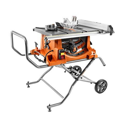 Ridgid 15 Amp 10 In Heavyduty Portable Table Saw With