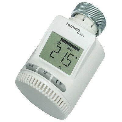 funk thermostat heizkörper technoline 3020 funk heizk 246 rper thermostat ventil energiespar heizung regler eur 37 80