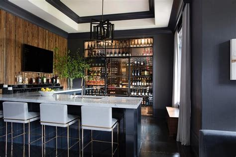 Black Home Bar by Black Bar Cabinets With Black And White Marble