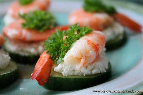 canapé pour apéro recette amuse bouche crevettes les joyaux de sherazade