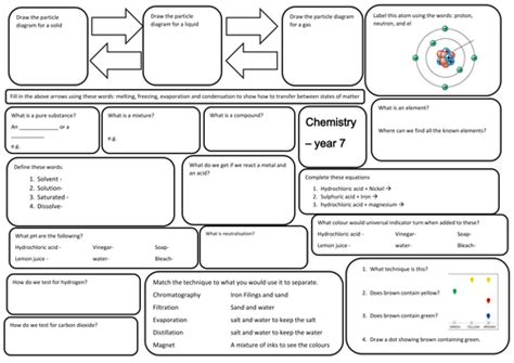 year 7 science revision sheets by tamaralew1 teaching resources tes