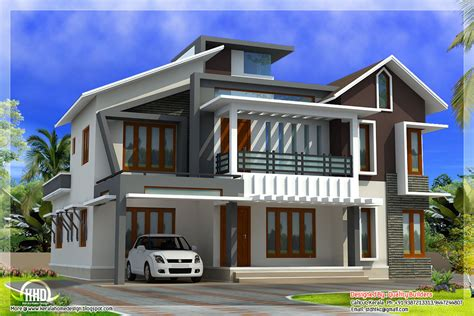 modern houses plans modern contemporary home in 2578 sq kerala home