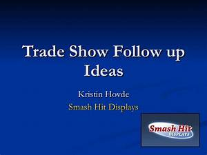 follow up ideas after trade shows With thank you letter for visiting trade show booth