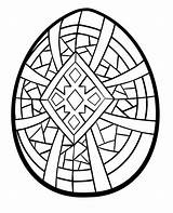 Cross Printable Cliparts Easter Coloring Pages Egg Geometric sketch template