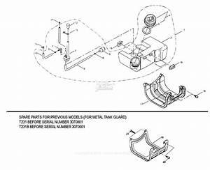 Shindaiwa T231  T231b Parts Diagram For Fuel Tank
