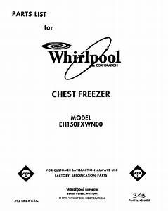 Whirlpool Eh150fxwn00 Chest Freezer Parts